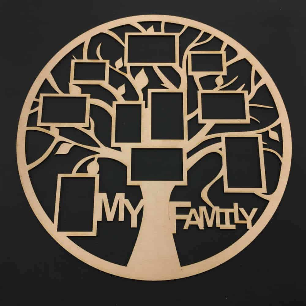 My Family Tree Frame Round Chain Valley Gifts
